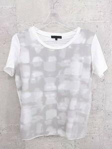 ◇ iCB アイシービー 半袖 Tシャツ カットソー S ホワイト グレー系 * ◆ 1000027910596