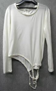 ワイズ ヨウジヤマモト:装飾付き 長袖 Tシャツ ( ロンT カットソー 長袖Tシャツ Yohji Yamamoto Y's Ladies' Long Sleeve Tee