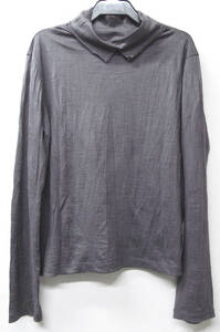 ワイズ ヨウジヤマモト:シワ加工 ウール カットソー ( 長袖Tシャツ ロンT Yohji Yamamoto Y's Wool Long Sleeve Tee