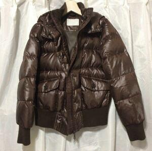 ユニクロ ダウン コート ジャケット M UNIQLO ショート丈 冬 ブラウン