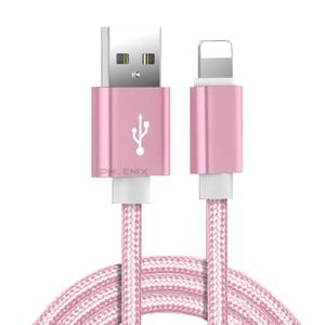 7428 hp iPhone 充電ケーブル USB データ通信 充電器 コード ライトニング 1m 断線 防止 iPad モバイルバッテリー など 1本 ピンク