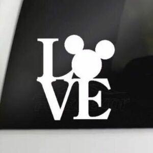 希少◆VIP ミッキーマウス Love 白 ホワイト1 カーステッカー ギャルソン 車 家具 防水 シール レイアウト ディズニー インテリア