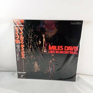 L2795 LD・レーザーディスク MILES DAVIS マイルス・デイビス LIVE IN MONTREAL 1985