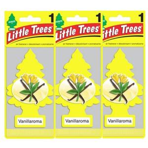 Little Trees リトルツリー エアフレッシュナーバニラロマ 釣り下げ式芳香剤 Vanillaroma 3枚セット