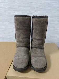 【送料無料】A189 UGG アグ サイズUS5 22㎝~22.5㎝ CLASSIC TALL ブラウン チョコレート リアルムートン シープスキン ブーツ