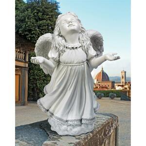 神の恵みのエンジェル 女の子の天使 ガーデンフィギュア 庭装飾彫刻 屋外アクセント オーナメント彫像 プレゼント 新築祝い(輸入品)