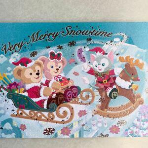 TDS 東京ディズニーシー ダッフィー シェリーメイ ジェラトーニ クリスマスポストカード 絵葉書 コレクション