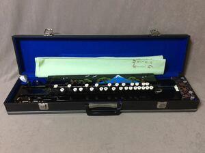 QE3981/大正琴 古賀政男琴 ピック ハードケース付き 和楽器