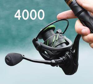 Z48 送料無料 フィッシング リール 遠投 釣り スピニングリール 4000番 海水 淡水 5.0:1 ハンドル左右交換