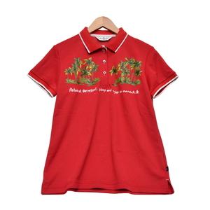 【大幅値下げ!】◆Munsingwear マンシングウェア ゴルフ ポロシャツ (SIZE:L) 刺繍 レッド レディース [S102428]