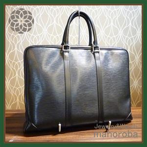 セール☆Louis Vuitton ルイヴィトン ポルトドキュマン ヴォワヤージュ エピ ビジネスバッグ M59162 メンズ