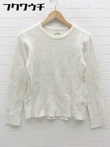 ◇ BEAMS BOY ビームス ボーイ ワッフル 長袖 Tシャツ カットソー ホワイト系 レディース
