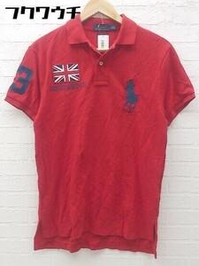 ◇ POLO RALPH LAUREN ポロラルフローレン ビッグポニー 半袖 ポロシャツ サイズS 175/92A レッド メンズ