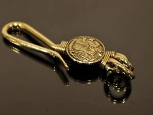 真鍮製 キーフック/キーホルダー ネイティブアメリカン/インディアン B09