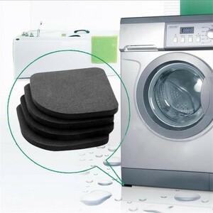 4 ピース/セット 洗濯機 抗振動 パッドマット ノンスリップ 衝撃 冷蔵庫 キッチン 浴室 マット H411