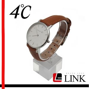 【稼働確認済み】Canal 4℃(カナルヨンドシー) 腕時計202518 ホワイト レディース メンズ ブラウン クオーツ クリスマス