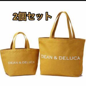 2個セット DEAN&DELUCAチャリティートート キャラメルイエロー S&L