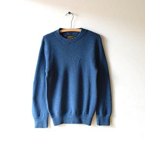 【送料無料】90s エディーバウアー クルーネック セーター ウールニット アウトドア メンズXS Eddie Bauer 紺色 CH0209