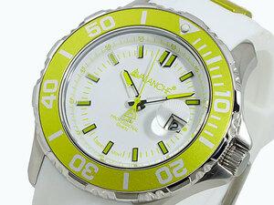 アバランチ AVALANCHE 腕時計 AV-1022S-LMGR ライムグリーン×ホワイト ホワイト