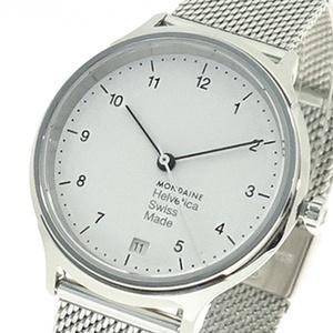 モンディーン MONDAINE 腕時計 レディース MH1.R1210.SM クォーツ ホワイト シルバー