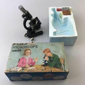【送料無料】外国製おもちゃ顕微鏡 research microscope junior ビンテージ古道具アンティーク当時物昭和レトロ蚤の市ブロカント