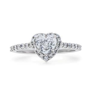 【2021秋のコレクション】pt900 プラチナ ダイヤモンド 憧れの ハート シェイプ 0.72ct F-VS2-HS 可愛い リング 指輪【中央宝石鑑定書付】
