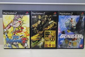 【PS2】 PS2ソフトまとめ売り プレイステーション 3本 機動戦士ガンダム+三国無双2猛将伝+戦国バサラ2 【送料無料】