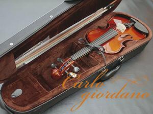 新品 送料無料 カルロジョルダーノ VS-1 1/2 子供用 分数バイオリンセット Carlo giordano 即決