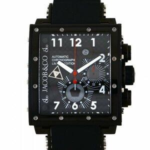 ジェイコブ JACOB&CO エピック I クロノグラフ JC-V2Q2B ブラック文字盤 中古 腕時計 メンズ