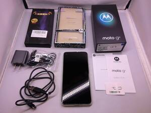 114-KE152◆60k【中古品】モトローラ SIMフリー スマートフォン 端末 本体 moto g8 ホログラムホワイト 64GB ケース付き