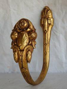 フランスアンティーク カーテンフック カーテンホルダー ブロンズ 青銅 蚤の市 ブロカント レリーフ モダンアート