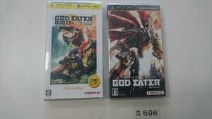 PSP プレイステーション ポータブル ソフト 2本 セット namco GOD EATER ゴッドイーター バースト BURST 動作確認済 ゲーム 中古