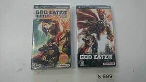 PSP プレイステーション ポータブル ソフト 2本 セット ナムコ namco GOD EATER ゴッドイーター バースト BURST 動作確認済 ゲーム 中古
