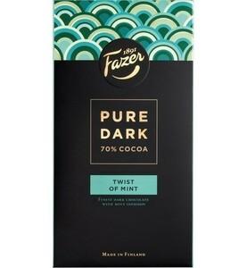 Fazer Pure Dark ファッツェル ピュアダーク 70 % ココア ツイスト ミント味 チョコレート 16袋×95g フィンランドのお菓子です