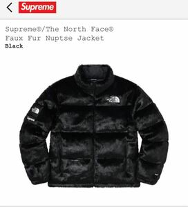 XLサイズ【新品 未開封】Supreme The North Face Faux Fur Nuptse Jacket Black 20FW ファー ヌプシ ブラック 黒 XLarge Logo