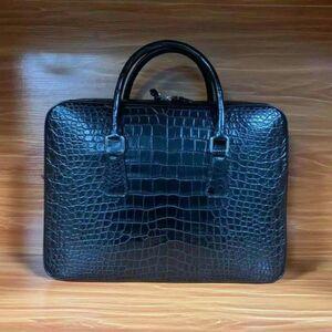 ワニ革 クロコダイル レザー A4/PC対応 斜め掛け ショルダーバッグ トート本革 ブリーフケース ビジネス メンズ ハンドバッグ 通勤用 鞄