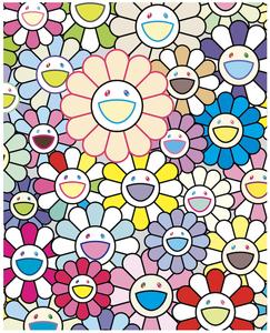 新品未開封 村上隆 版画 murakami takashi お花畑 Field of Flowers 限定100枚 / フラワー ポスター カイカイキキ kaikaikiki