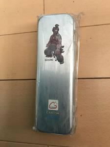 非売品 デッドストック 未使用 ストリートファイター 豪鬼 缶ペン カンペン ペンケース 筆箱 capcom カプコン スト2 文具 文房具