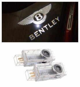 Bentley ベントレー HD ロゴ NEWタイプ カーテシランプ LED プロジェクター コンチネンタル GT フライング スパー ドア