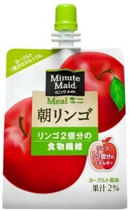 ミニッツメイド 朝リンゴ 180g 24本 (24本×1ケース) パウチ ゼリー飲料 ダイエット食品 低カロリー【送料無料】
