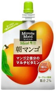 ミニッツメイド 朝マンゴ 180g 24本 (24本×1ケース) パウチ ゼリー飲料 ダイエット食品 低カロリー【送料無料】