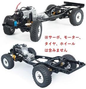 Rcrun RUN80 1/10 ランドクルーザーLC80 四輪駆動ラジコン組立キット 実車に忠実なシャーシ