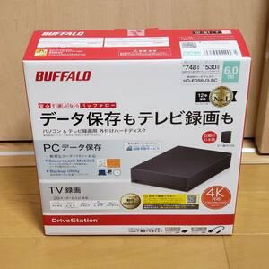 【新品/未開封】 BUFFALO 外付ハードディスク 6.0TB HD-EDS6U3-BC