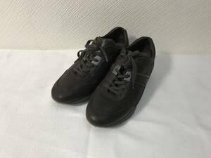 本物トッズTODS本革オールレザーランウェイスニーカーシューズブーツモード靴ビジネス6茶ブラウン26cmメンズイタリア製