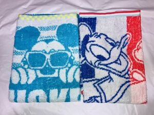 3f5546 * prepare for entrance to school! Face towel × Disney Mickey Mouse & Donald Duck