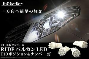 C25 セレナライダー H17.5~H22.11 RIDE バルカンLED ポジション球&ナンバー灯 4個
