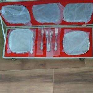 銀食器フォーク皿セット 東洋ステンレス