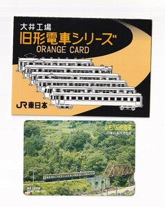 ◇JR東日本◇大井工場旧形電車シリーズ3 クモハ60形◇記念オレンジカード1000円未使用台紙付き