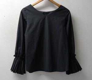 ◆Ray Beams レイビームス 17ss プリーツ カフス 2way プルオーバー シャツ ブラウス サイズ0 美 黒