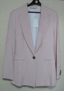 ★H&M★新品★ジャケット★サイズM★淡いピンクに白のストライプ★